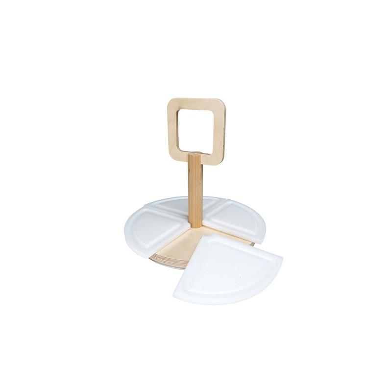 Petit plateau apéritif rotatif de 30 cm de diamètre
