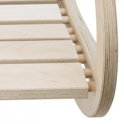 """Zoom chaise à bascule """"QUIETUDE"""" originale en bois"""
