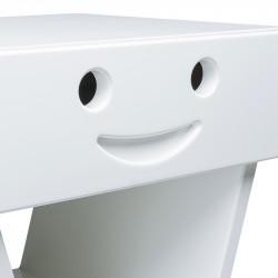 Zoom table de chevet sourire pour enfant, couleur blanc