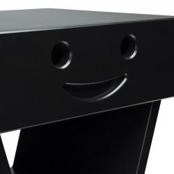 Zoom table de chevet sourire pour enfant, couleur noir