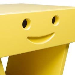 Zoom table de chevet sourire pour enfant, couleur jaune