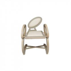 Chaise NOELA en bois design, couleur taupe/beige