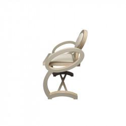 Profil chaise NOELA en bois design, couleur taupe/beige