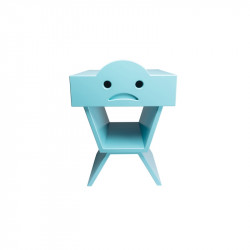 Table de chevet TRISTAN pour enfant, couleur cyan