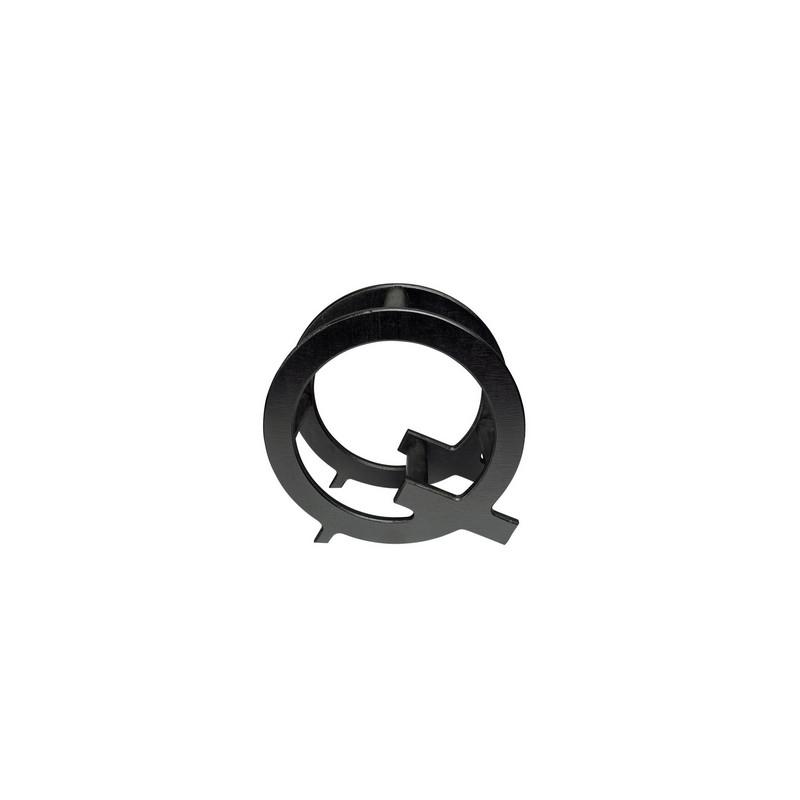 """Présentoir à vin """"Q"""", couleur noir"""