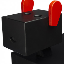 Table de chevet CABOTINE originale et atypique pour enfant, couleur noir