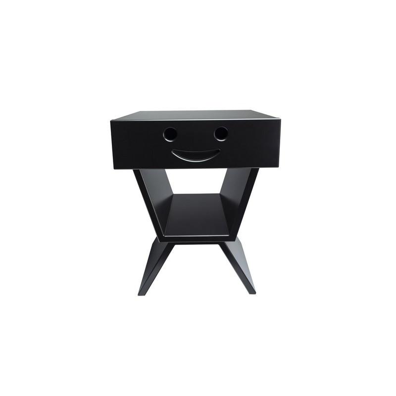 Table de chevet sourire pour enfant, couleur noir
