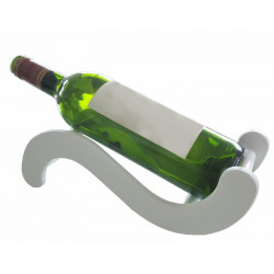 """Présentoir à vin """"S"""" en bois, couleur blanc"""