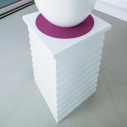 Meuble d'appoint rectangle design, fonctionnel et élégant, couleur blanc