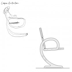Croquis d'intention chaise ELENA