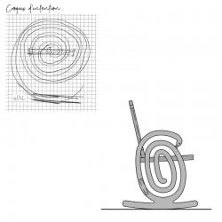 """Croquis d'intention chaise à bascule """"Cobra"""" originale, design et élégante"""