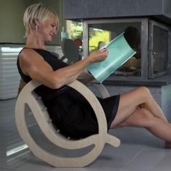 """Chaise à bascule """"QUIETUDE"""" originale en bois"""