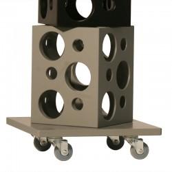 """Présentoir à vins mobile """"Cubes"""", capacité de 18 bouteilles"""