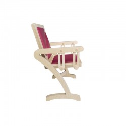 Profil chaise balancelle PLAISIR en bois, effet balançoire